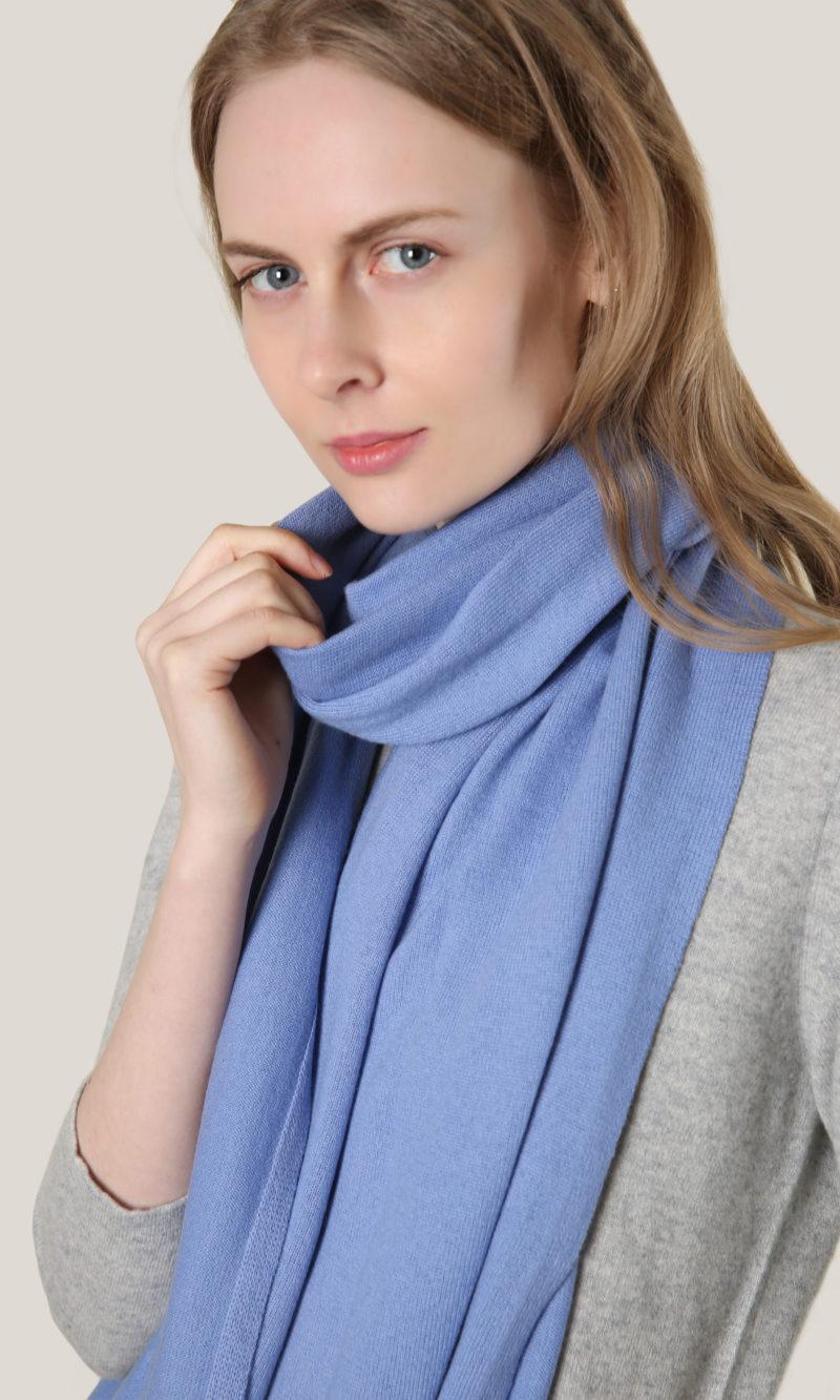 kashmir halsduk blå